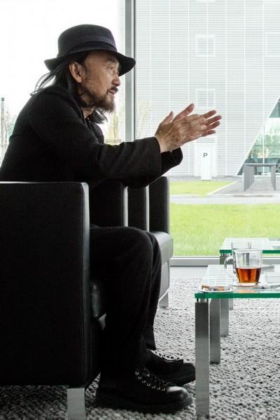 Der berühmte Modedesigner in Berlin. Anlass war seine Fashionshow im Jahr 2013.