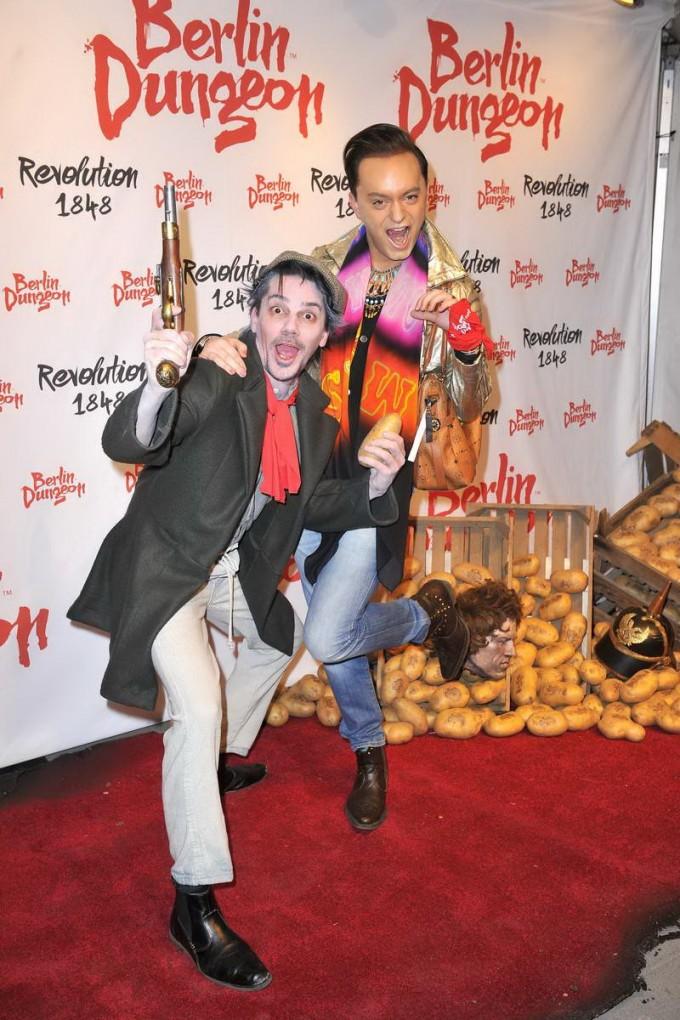 Julian Stoeckel; Darsteller  -  Premiere der Show REVOLUTION 1848 im Dungeon in Berlin am 18.03.2015 -  Foto: SuccoMedia / Ralf Succo