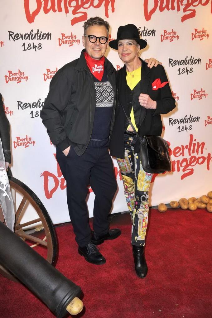 Rolf Scheider; Barbara Engel  -  Premiere der Show REVOLUTION 1848 im Dungeon in Berlin am 18.03.2015 -  Foto: SuccoMedia / Ralf Succo