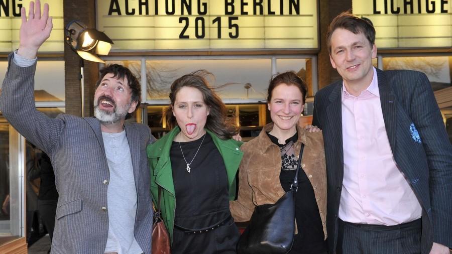 Hajo Schäfer; Sabine Curtius  ; Britta Steffenhagen; Sebastian Brose  -  Eröffnung achtung berlin Festival im Kino International  in Berlin  am 15.04.2015 -  Foto: SuccoMedia / Ralf Succo