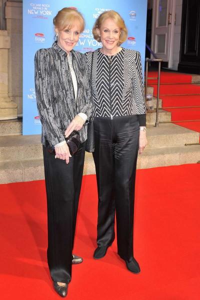 Alice und Ellen Kessler  -  Premiere ICH WAR NOCH NIEMALS IN NEW YORK im Stage Theater des Westens  in Berlin  am 25.03.2015 -  Foto: SuccoMedia / Ralf Succo