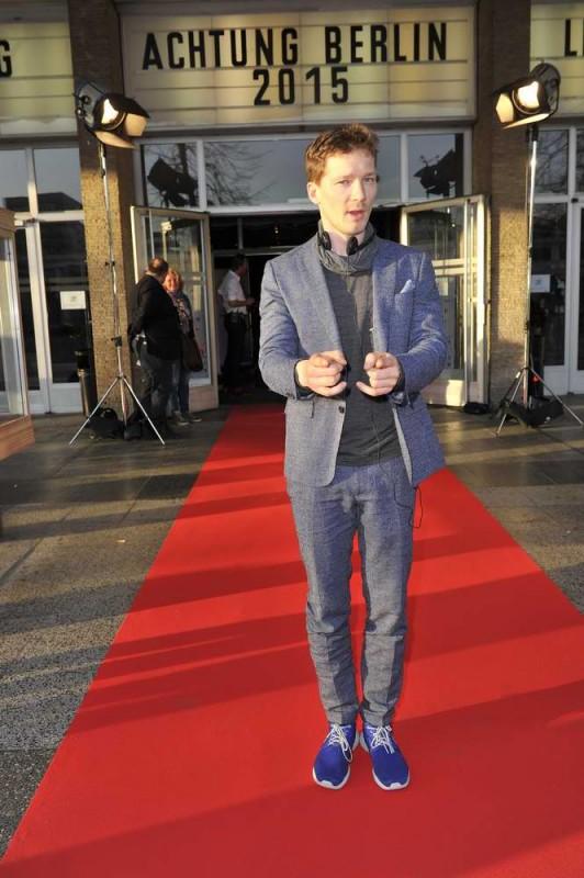 Jacob Matschenz  -  Eröffnung achtung berlin Festival im Kino International  in Berlin  am 15.04.2015 -  Foto: SuccoMedia / Ralf Succo
