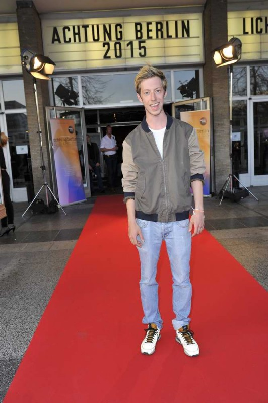 Maximilian Mauff  -  Eröffnung achtung berlin Festival im Kino International  in Berlin  am 15.04.2015 -  Foto: SuccoMedia / Ralf Succo