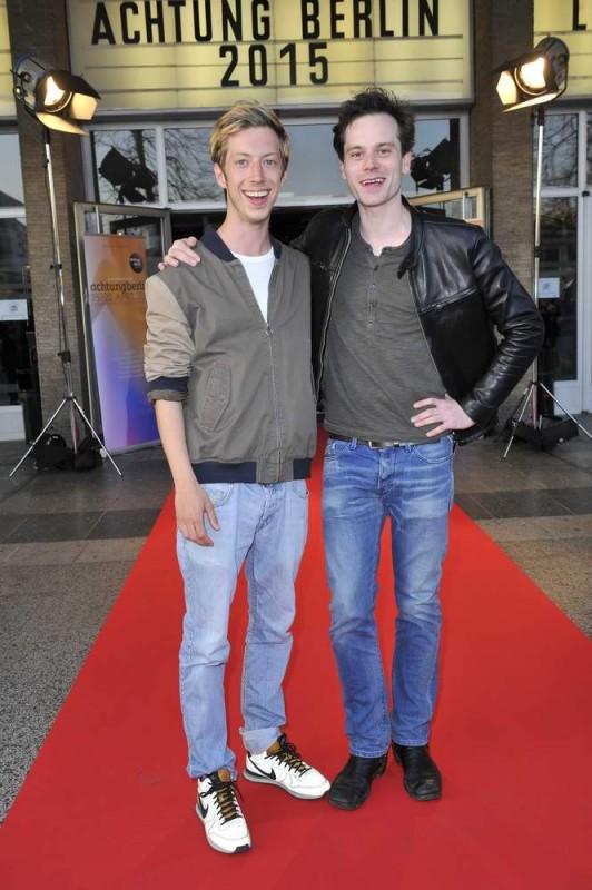 Maximilian Mauff; Florian Bartholomäi  -  Eröffnung achtung berlin Festival im Kino International  in Berlin  am 15.04.2015 -  Foto: SuccoMedia / Ralf Succo
