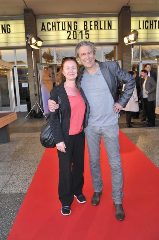 Lina Wendel ; Michael Kind  -  Eröffnung achtung berlin Festival im Kino International  in Berlin  am 15.04.2015 -  Foto: SuccoMedia / Ralf Succo
