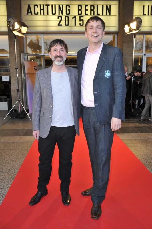 Hajo Schäfer; Sebastian Brose (Festivalleitung)  -  Eröffnung achtung berlin Festival im Kino International  in Berlin  am 15.04.2015 -  Foto: SuccoMedia / Ralf Succo