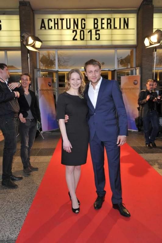Theresa Scholze; Max Riemelt  -  Eröffnung achtung berlin Festival im Kino International  in Berlin  am 15.04.2015 -  Foto: SuccoMedia / Ralf Succo