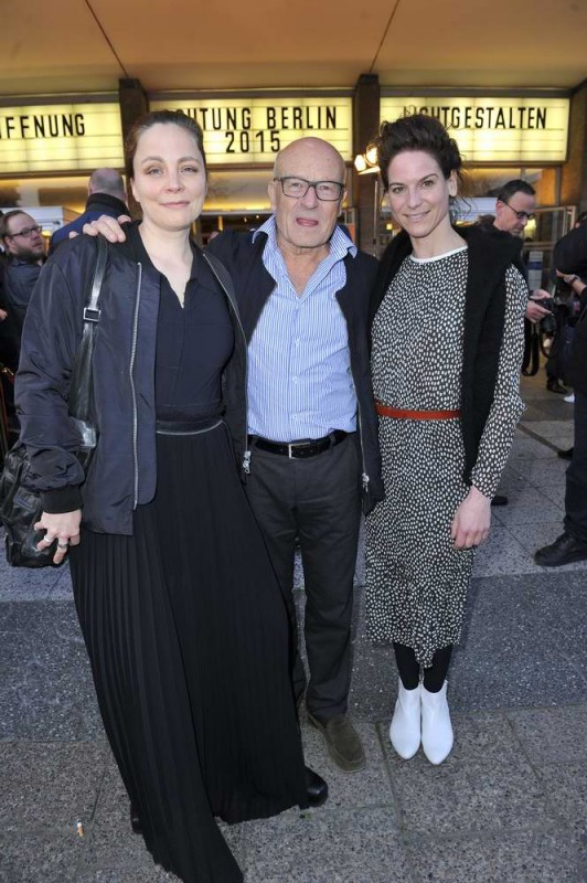 Thea Dorn; Volker Schlöndorff; Bibiana Beglau  -  Eröffnung achtung berlin Festival im Kino International  in Berlin  am 15.04.2015 -  Foto: SuccoMedia / Ralf Succo