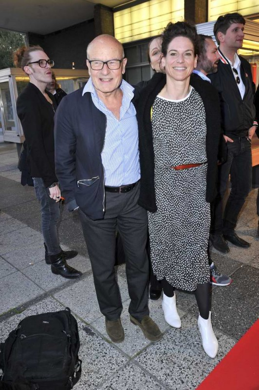 Volker Schlöndorff; Bibiana Beglau  -  Eröffnung achtung berlin Festival im Kino International  in Berlin  am 15.04.2015 -  Foto: SuccoMedia / Ralf Succo