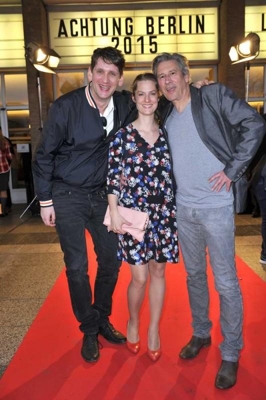 Sebastian Schwarz; Marie Burchard; Michael Kind  -  Eröffnung achtung berlin Festival im Kino International  in Berlin  am 15.04.2015 -  Foto: SuccoMedia / Ralf Succo