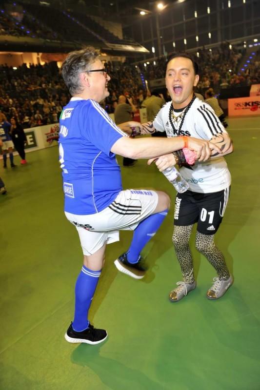 Rolf Scheider, Julian Stoeckel Rolf Scheider; Julian Stoeckel  -  KISS Cup in der Max-Schmeling-Halle in Berlin  am 22.05.2015 -  Foto: SuccoMedia / Ralf Succo