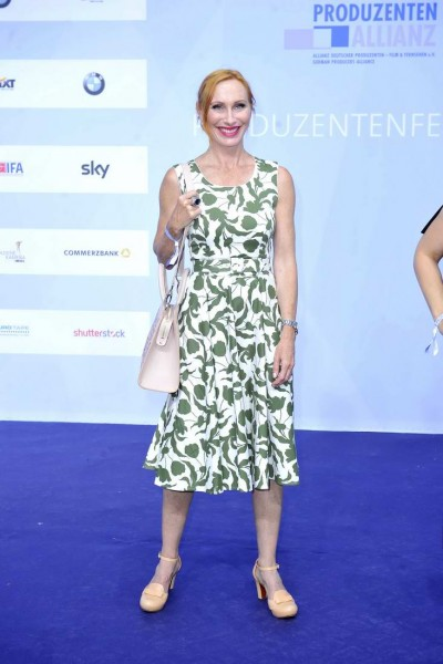 Andrea Sawatzki Andrea Sawatzki  -  Produzentenfest 2015 im Haus der Kulturen der Welt / Kongresshalle / Schwangere Auster     in Berlin  am 11.06.2015 -  Foto: SuccoMedia / Ralf Succo