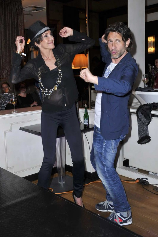 Anouschka Renzi, Falk Willy Wild Anouschka Renzi; Falk Willy Wild  -  GLAM NIGHT zur Eröffnung der Agentur GLAM MODELCOACHING  im Restaurant Manon in  Berlin  am 28.05.2015 -  Foto: SuccoMedia / Ralf Succo