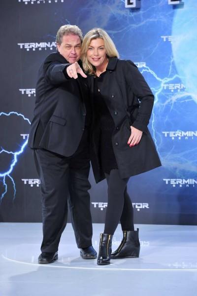 Birte Schielke, Oliver Kalkofe Birte Schielke; Oliver Kalkofe  -  Premiere TERMINATOR - GENISYS im Cinestar im Sonycenter  in Berlin  am 21.06.2015 -  Foto: SuccoMedia / Ralf Succo