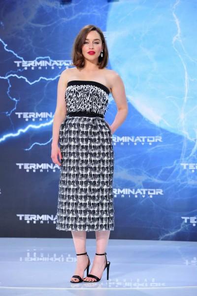 Emilia Clarke Emilia Clarke  -  Premiere TERMINATOR - GENISYS im Cinestar im Sonycenter  in Berlin  am 21.06.2015 -  Foto: SuccoMedia / Ralf Succo