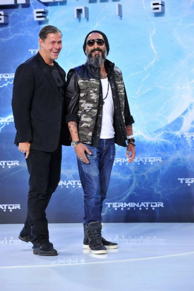 Sven Martinek, Senay Gueler Sven Martinek; Senay Gueler  -  Premiere TERMINATOR - GENISYS im Cinestar im Sonycenter  in Berlin  am 21.06.2015 -  Foto: SuccoMedia / Ralf Succo