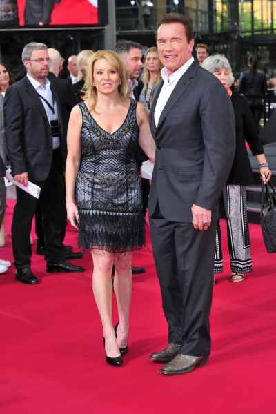 Heather Milligan, Arnold Schwarzenegger  Heather Milligan; Arnold Schwarzenegger -  Premiere TERMINATOR - GENISYS im Cinestar im Sonycenter  in Berlin  am 21.06.2015 -  Foto: SuccoMedia / Ralf Succo