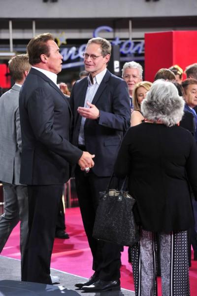 Arnold Schwarzenegger, Michael Müller Arnold Schwarzenegger; Michael Müller  -  Premiere TERMINATOR - GENISYS im Cinestar im Sonycenter  in Berlin  am 21.06.2015 -  Foto: SuccoMedia / Ralf Succo