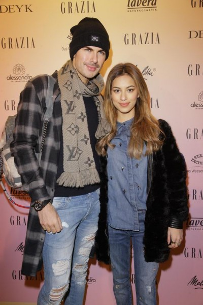 GRAZIA POP UP André Borchers und Begleitung ? - Grazia Brunch im Rahmen der  Mercedes-Benz Fashion Week Berlin Herbst / Winter 2016 / Autumn / Winter 2016  im /at Grosz Kurfürstendamm  Berlin   Copyright: Eventpress Anthes  Datum 20.01.2016