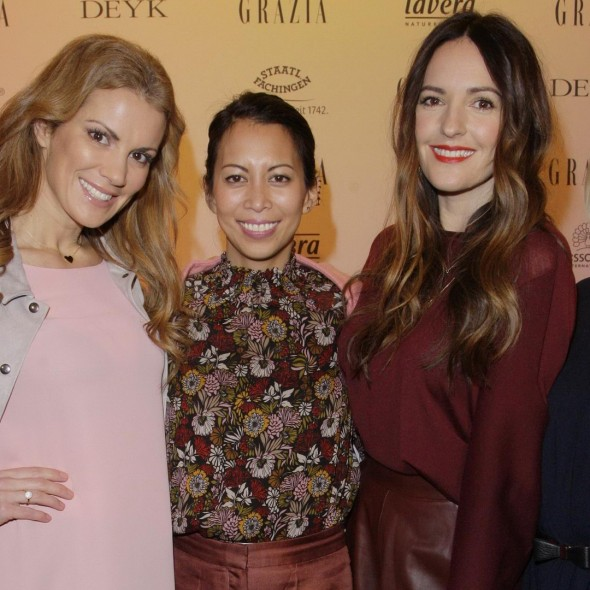 GRAZIA POP UP Kerstin Linnartz, Minh-Khai Phan-Thi, Johanna Klum, Nova Meierhenrich - Grazia Brunch im Rahmen der Mercedes-Benz Fashion Week Berlin Herbst / Winter 2016 / Autumn / Winter 2016 im /at Grosz Kurfürstendamm Berlin Copyright: Eventpress Anthes Datum 20.01.2016