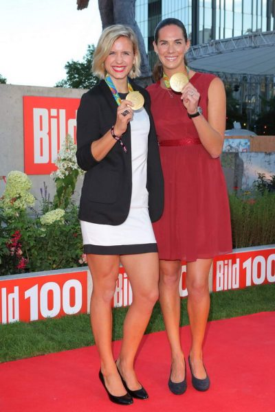 Laura Ludwig + Kira-Katharina Walkenhorst bei der Bild 100-Party Laura Ludwig + Kira-Katharina Walkenhorst bei der Bild 100-Party vor dem Verlagshaus der Axel Springer SE, Axel-Springer-Str. 65, Berlin- 06.09.2016 -copyright by Stephan SchrapsBitte beachten Sie unsere Geschaeftsbedingungen. Please refer to my GENERAL TERMS AND CONDITIONS OF DELIVERY AND BUSINESS (AGB s)