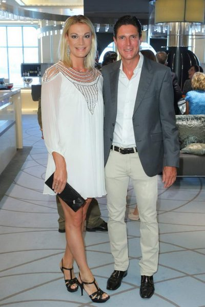 Maria Hoefl-Riesch + Mann Marcus Hoefl an Bord der MS Europa 2 Maria Hoefl-Riesch + Mann Marcus Hoefl an Bord der MS Europa 2 am Cruise Terminal in der Hafencity, Hamburg, bei der - Eventpremiere FASHION2NIGHT  - 23.08.2016 - copyright by Stephan Schraps Bitte beachten Sie unsere Geschaeftsbedingungen. Please refer to my GENERAL TERMS AND CONDITIONS OF DELIVERY AND BUSINESS (AGB s)