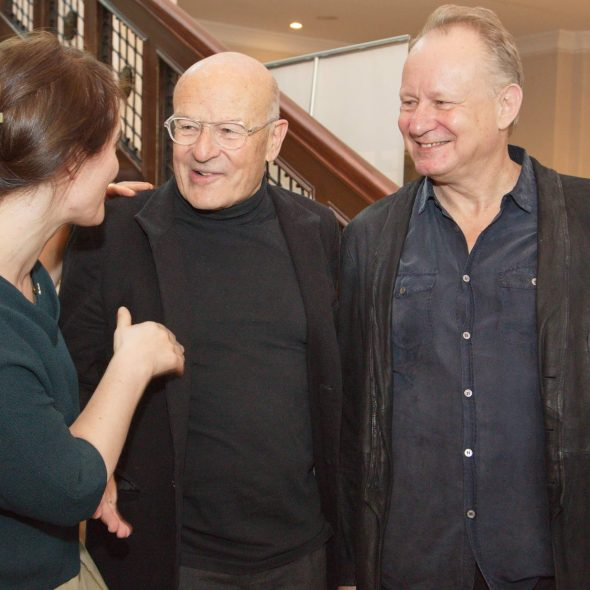 Volker Schlöndorff und Stellan Skarsgård im Gespräch