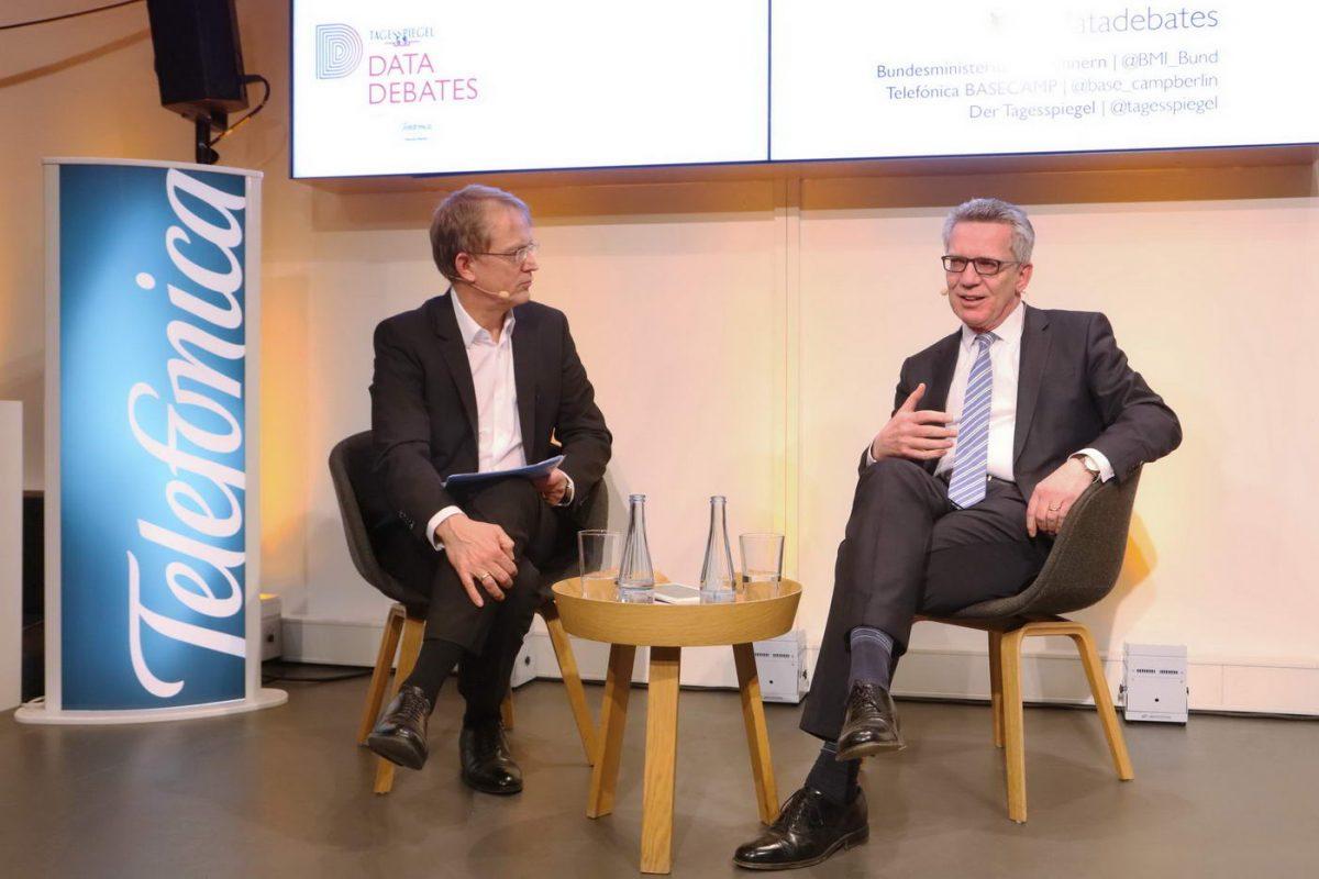 Tagesspiegel Data Debates mit Stephan-Andreas Casdorff und Thomas De Maizière
